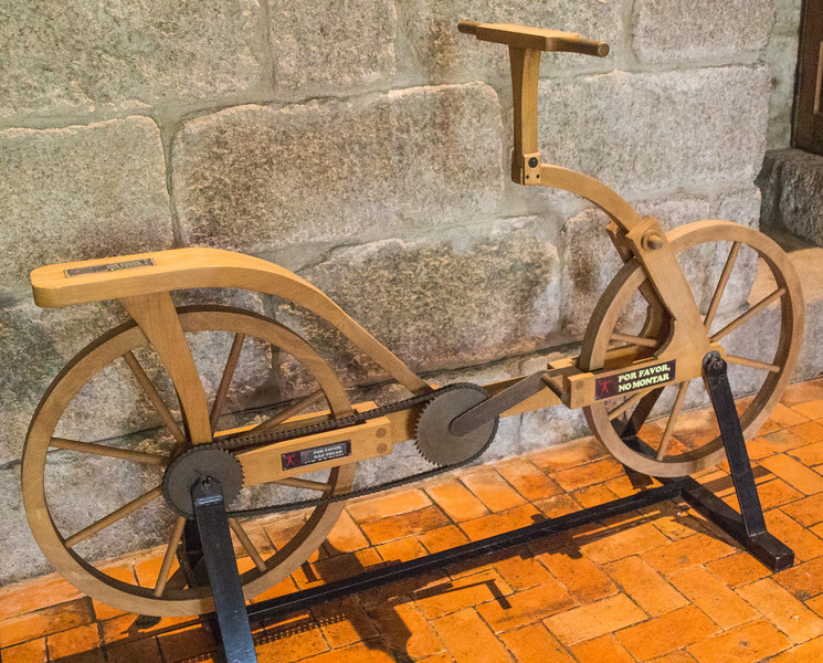 No Explanation Needed - Leonardo da Vinci Designed the Bicycle - One Has to Wonder Why Bicycles with Chains Were Not Seen Until the Late 19th Century (©simon@myeclecticimages.com)