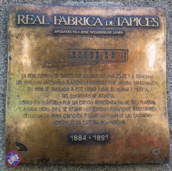 Plaque in the Entrance to the Tapestry Factory (©simon@myeclecticimages.com)