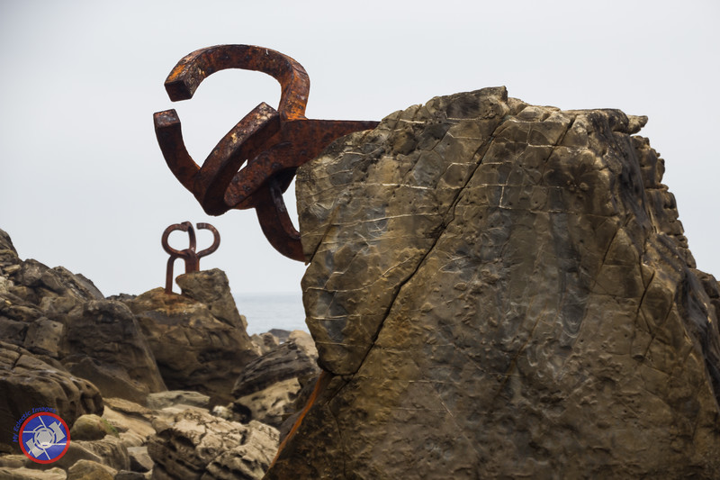 Combs of Wind, a series of sculptures by Eduardo Chillida in San Sebastain (©simon@myeclecticimages.com)