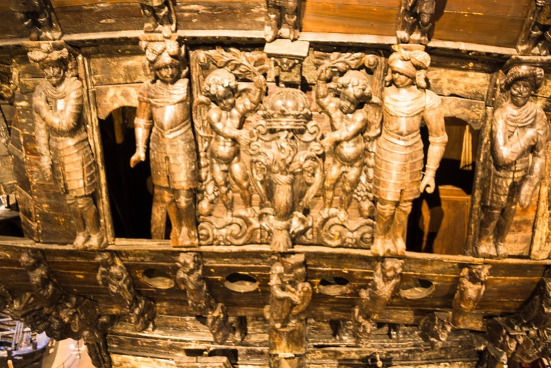 Part of the Elaborately Carved Stern of the Vasa (©simon@myeclecticimages.com)