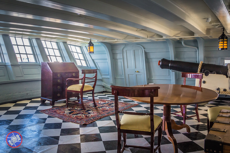 Nelson Desk and Table in the Day Room Aboard HMS Victory (©simon@myeclecticimages.com)