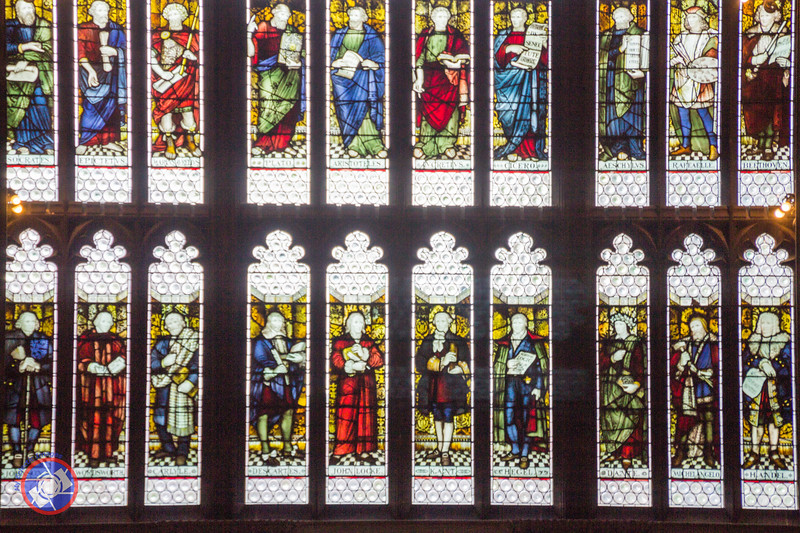 Closer View of the Stained Glass Window in the Main Reading Room (©simon@myeclecticimages.com)
