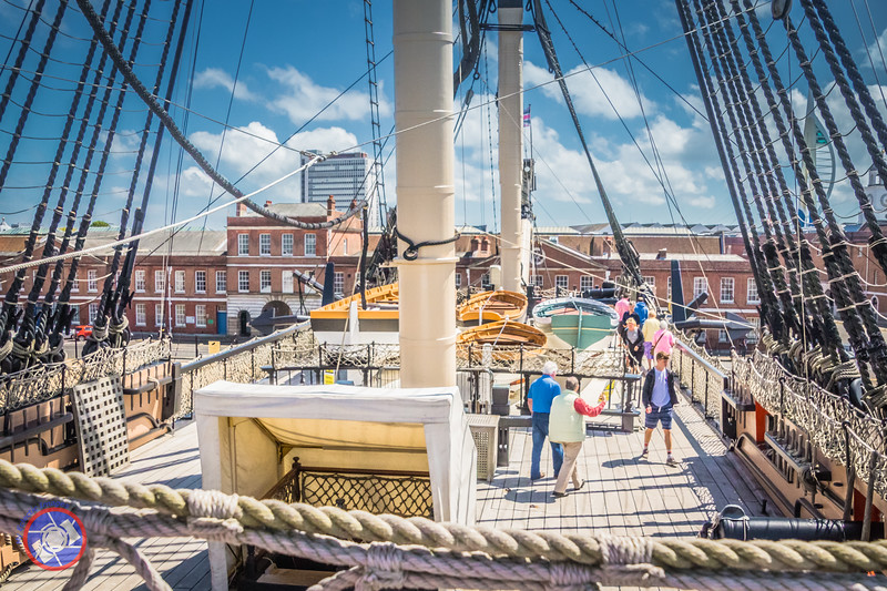 View of the Deck of HMS Victory from the Poop Deck (©simon@myeclecticimages.com)