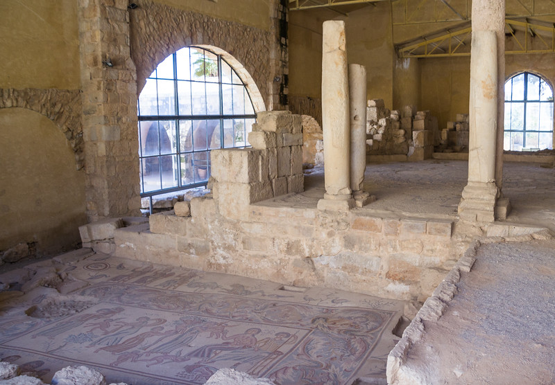 Mosaic from Hyppolitus Hall Found Under the Church of the Virgin and Now Part of the Madaba Archeological Park (©simon@myeclecticimages.com)