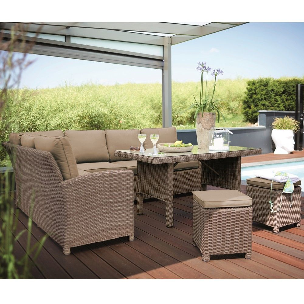 Salon De Jardin Kettler Marbella Rsine Canap Table