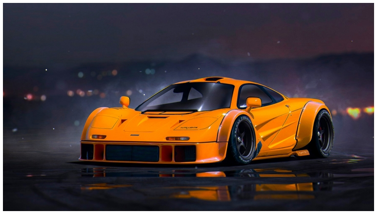 Mclaren F Orange hd wallpaper in Cars
