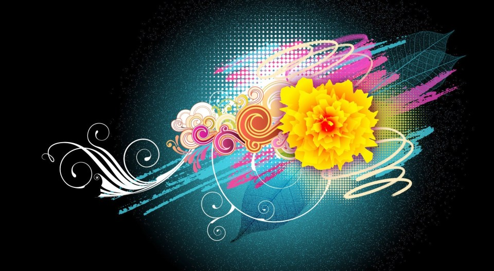 Colorful Flower Vector 1080p HD Wallpapers