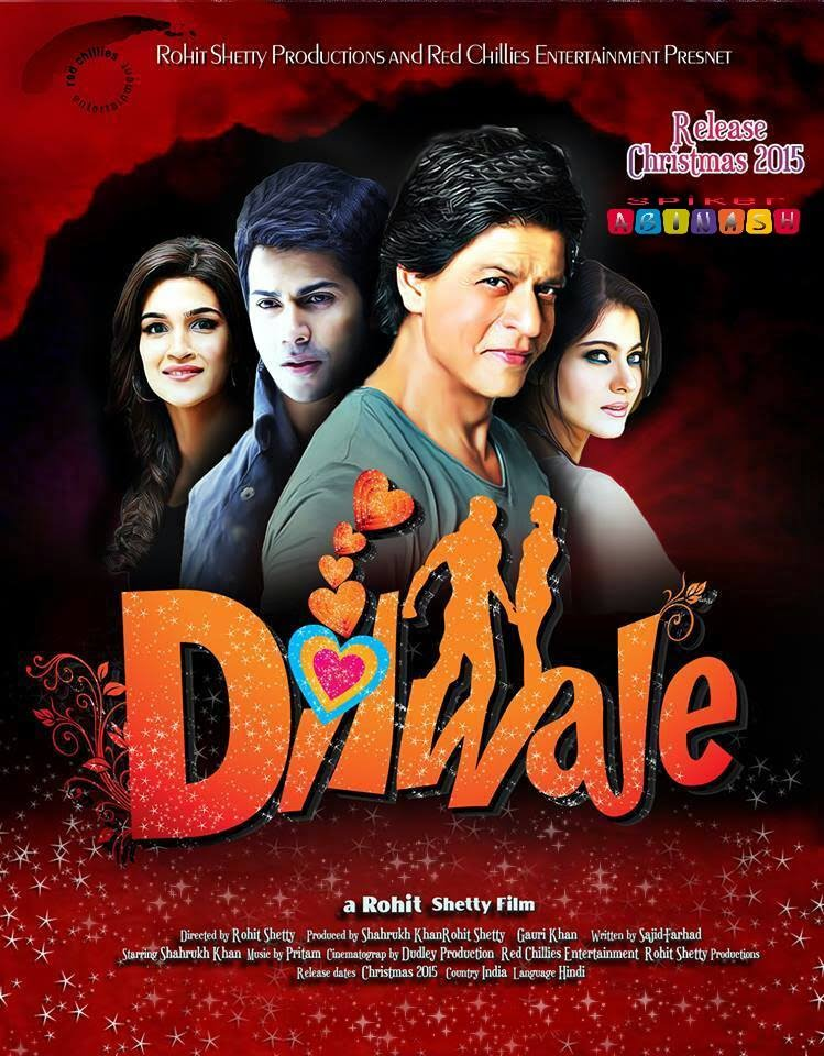 Latest Film Dilwale 2015 Kajol Shah Rukh Khan Wallpapers