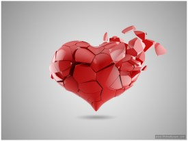 HD 3d wallpapers of broken heart