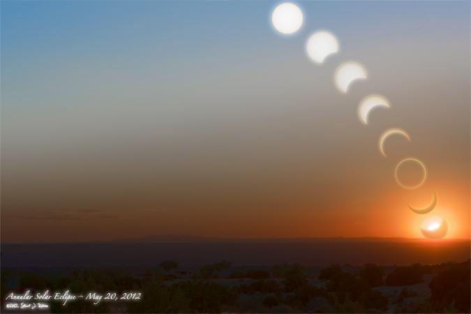 Annular Solar Eclipse Montage, Type 4, Version 1.1