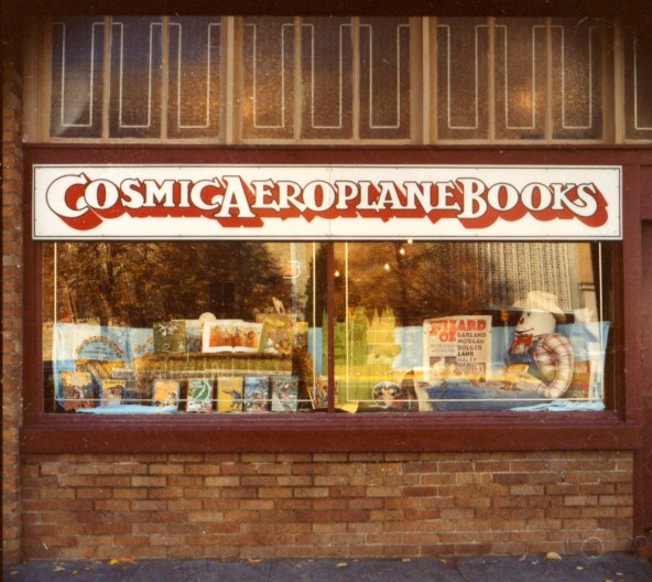 Photo courtesy Mike Evans Cosmic Aeroplane exterior from the  258 E. 100 South location. The store was here from 1976-1991.