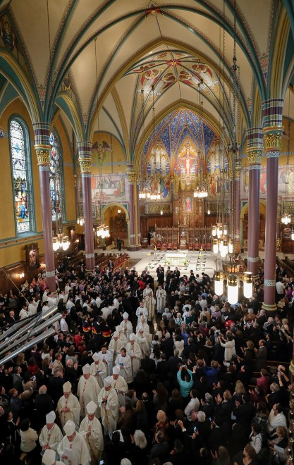 Francisco Kjolseth | The Salt Lake Tribune The installation of Bishop Oscar A. Solis as the 10th bishop of the Diocese of Salt Lake City takes place at the Cathedral of the Madeleine on Tuesday, March 7, 2017.