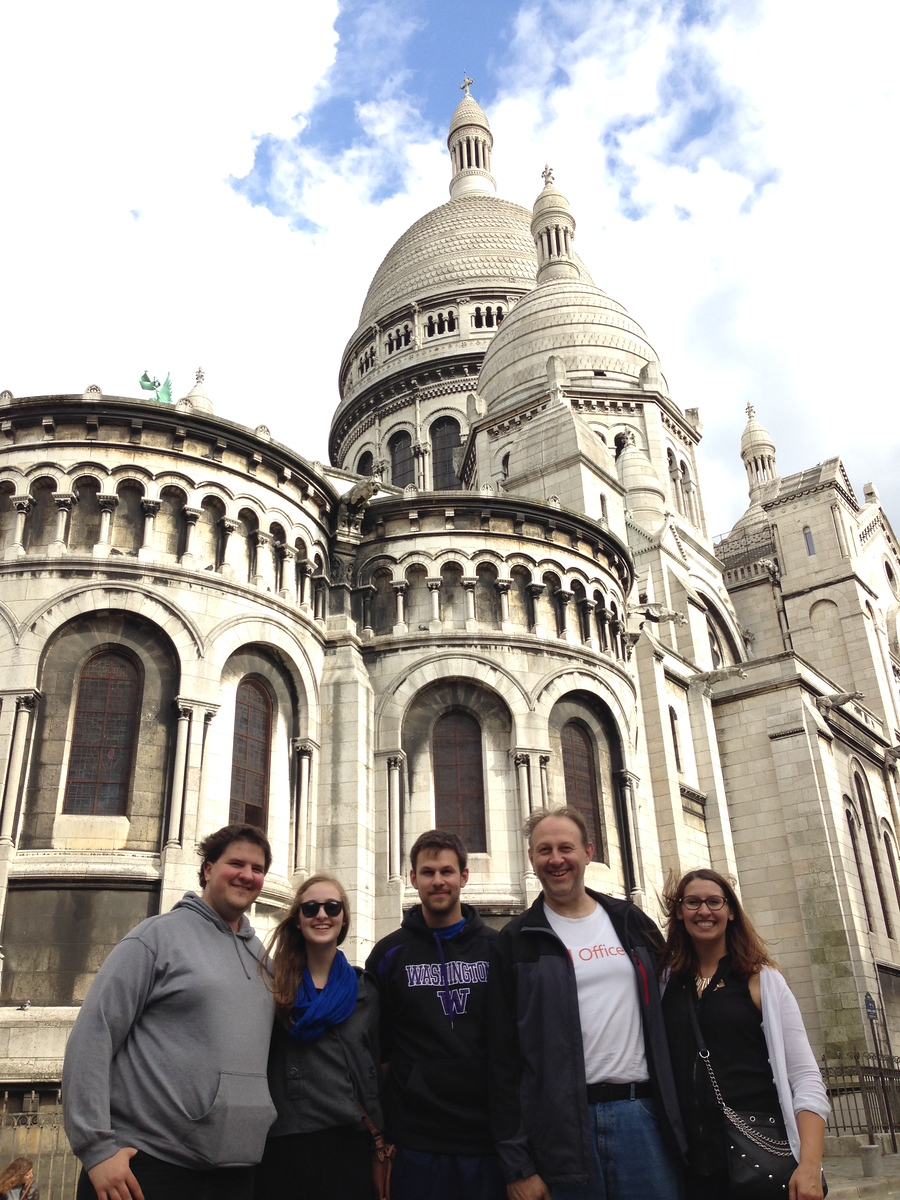 Group Photo at the Sacre Coeur Basilica in Paris, France