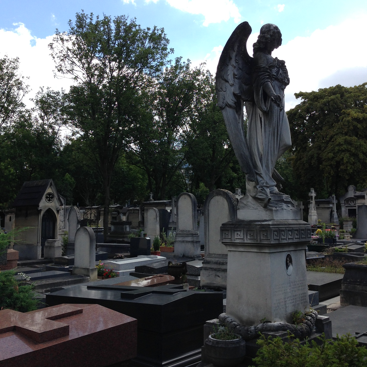 Beautiful Headstones at the Montparnasse Cemetery in Paris, France