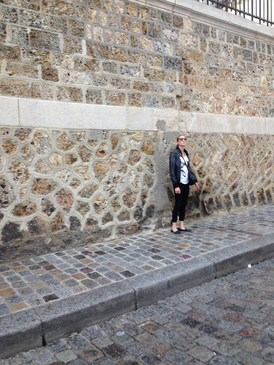 Jennifer On a Side Street in Paris, Gazing Up at the Sacre Coeur Basilica