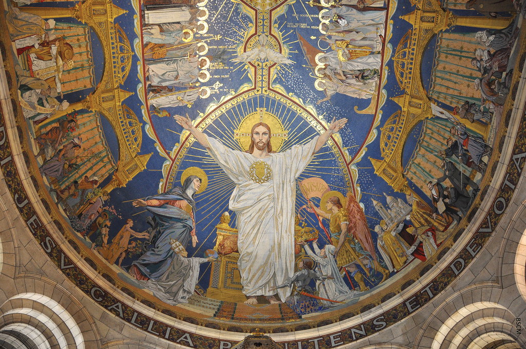 Image of the Gilded Mosaic Dome of the Sacre Coeur in Paris, Image Used With Permission From BSCM