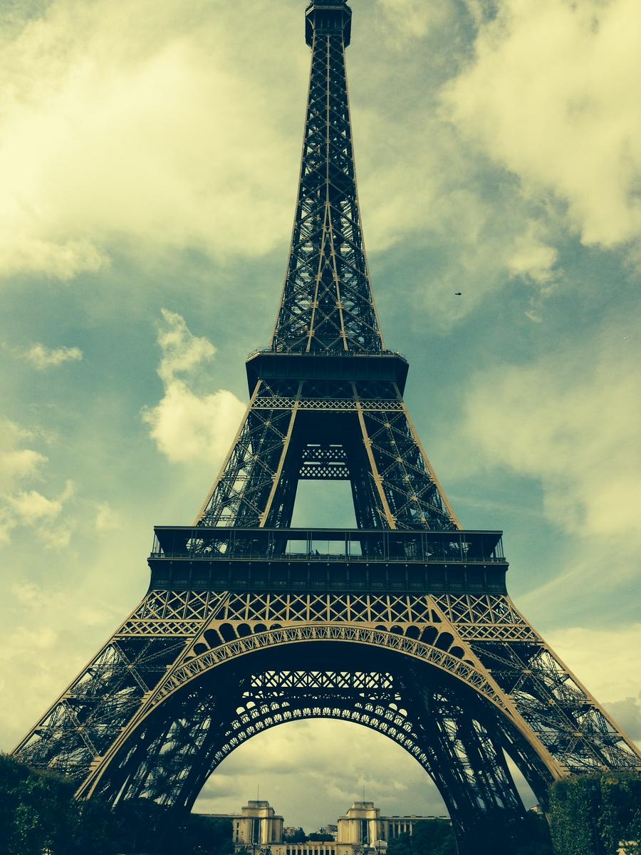 Vintage Toned Shot of the Eiffel Tower, Paris