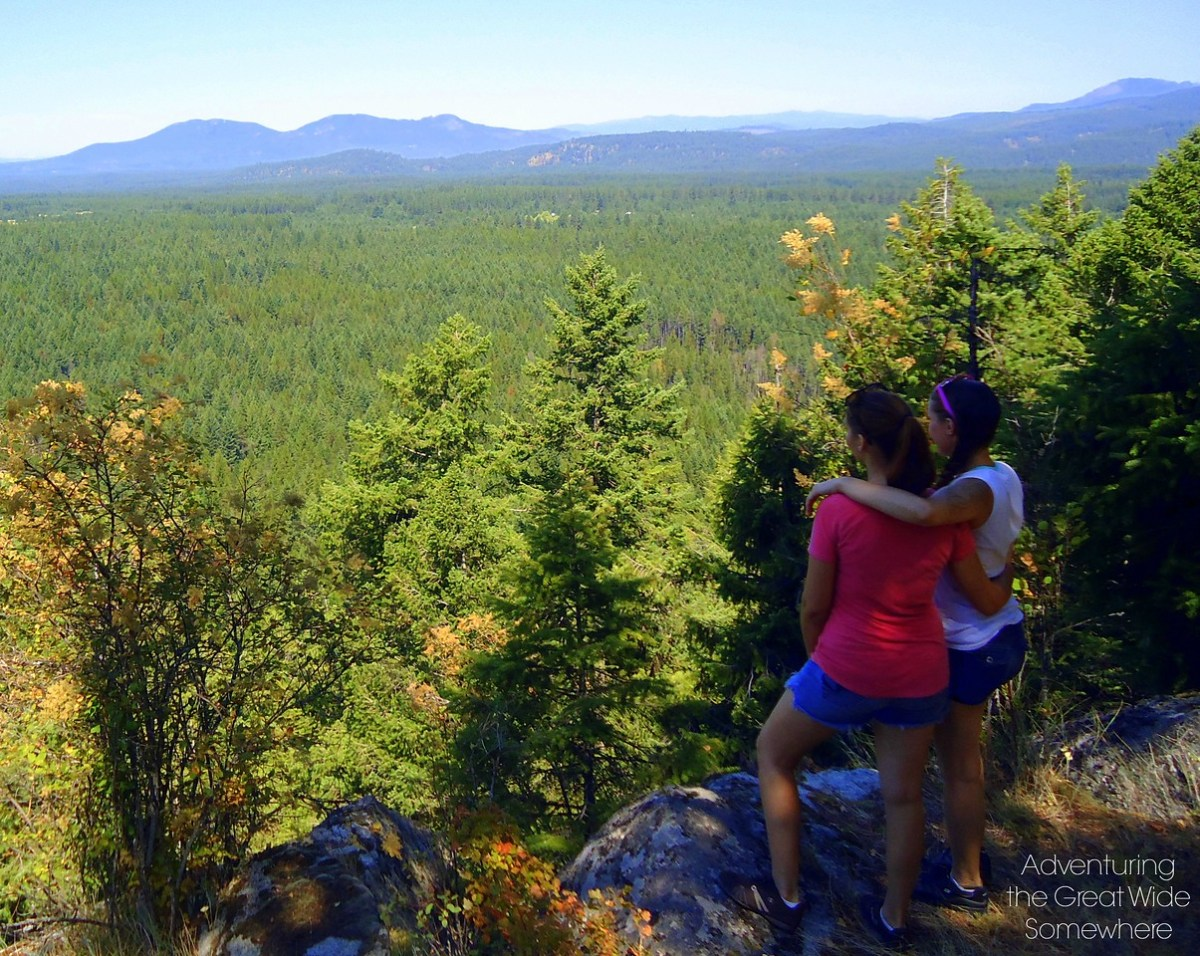 Hiking in Farragut State Park, 2012