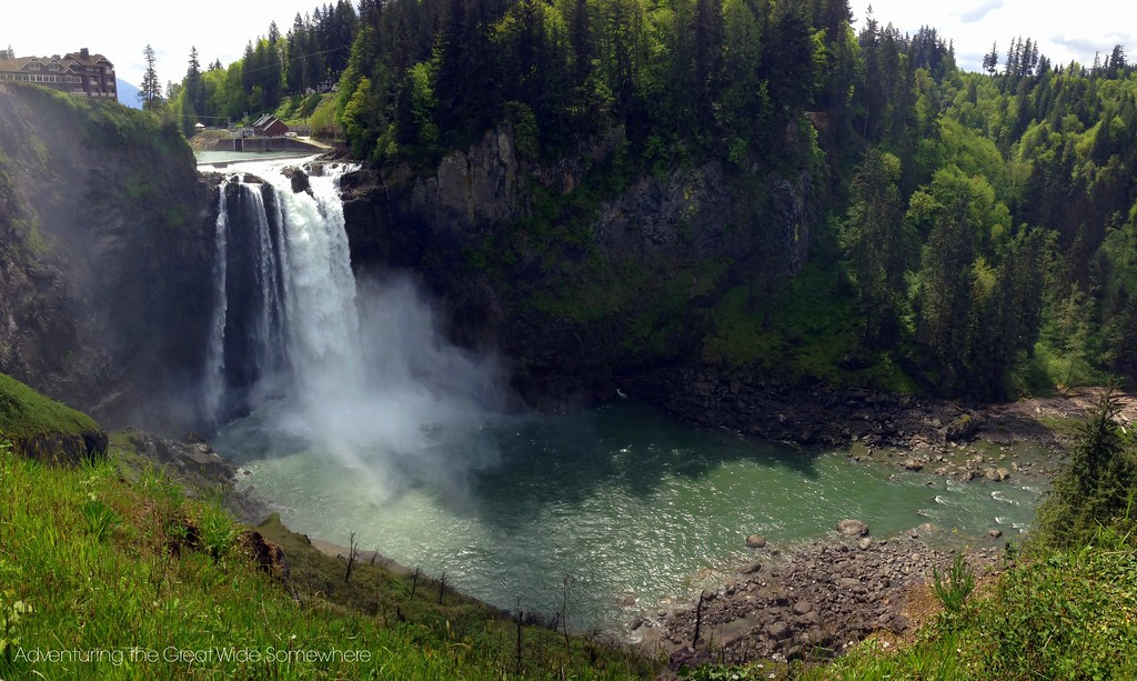 Beautiful Snoqualmie Falls in the Spring