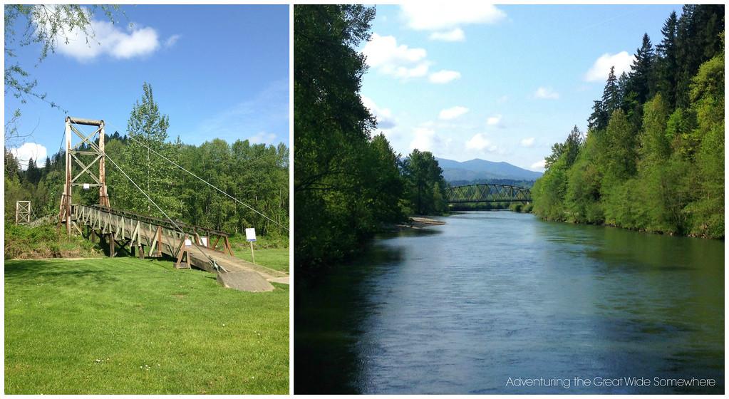 Bridge at John MacDonald Memorial Campground in Washington