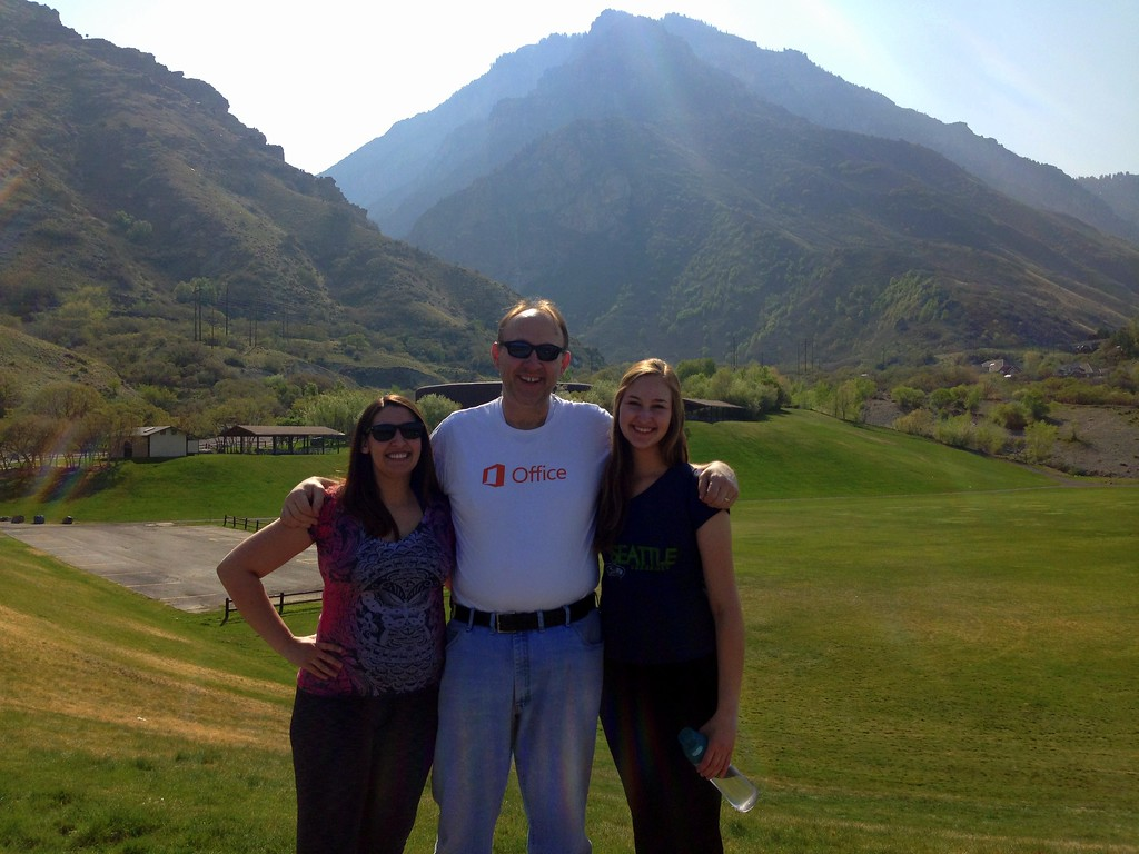 Dad, Michelle and I About to Hike Rock Canyon Trail in Provo, Utah