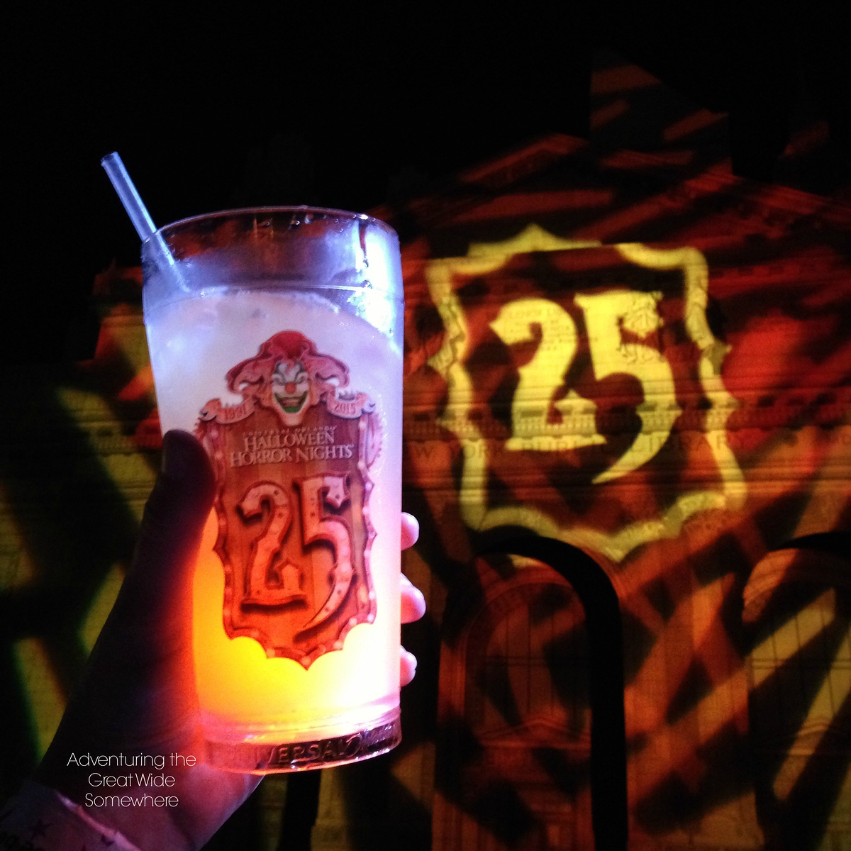Glowing Event Drink at Halloween Horror Nights 25 in Orlando