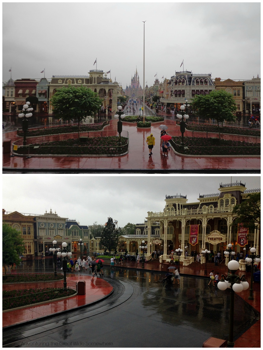 Empty, Rained Out Magic Kingdom Streets