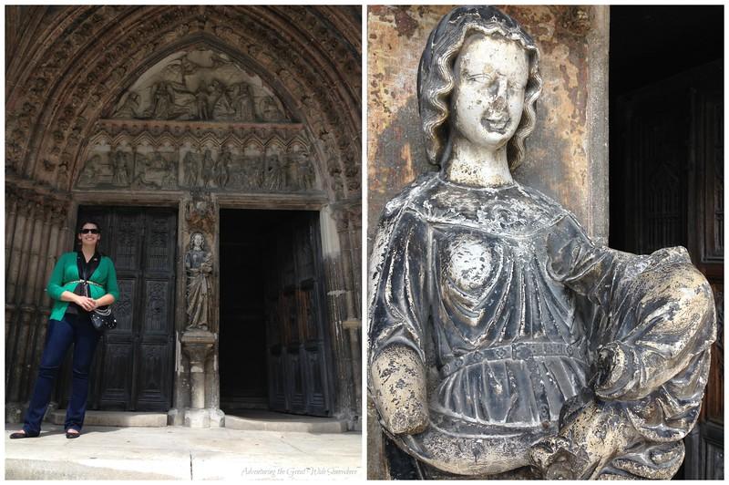 Entering le Basilique Sainte Jean-Baptiste, Chaumont Centre-Ville, France