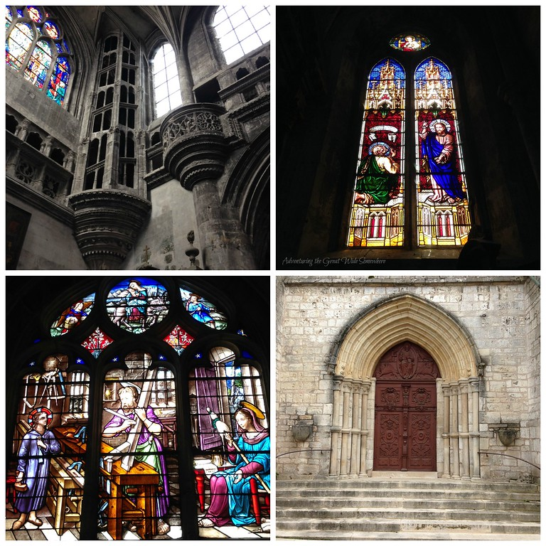 Stained Glass and Other Interior Details in the Basilique Sainte Jean-Baptiste, Chaumont, France