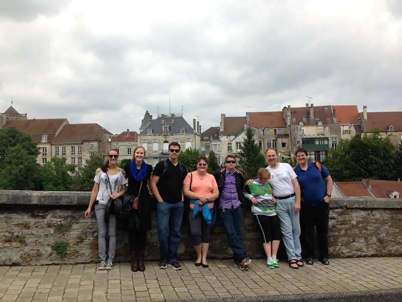 Group Photo of my Family in Chaumont Centre Ville, France