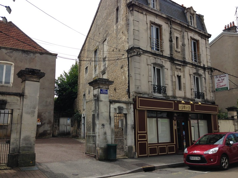 Worn But Beautiful Buildings on the Streets of Chaumont, France