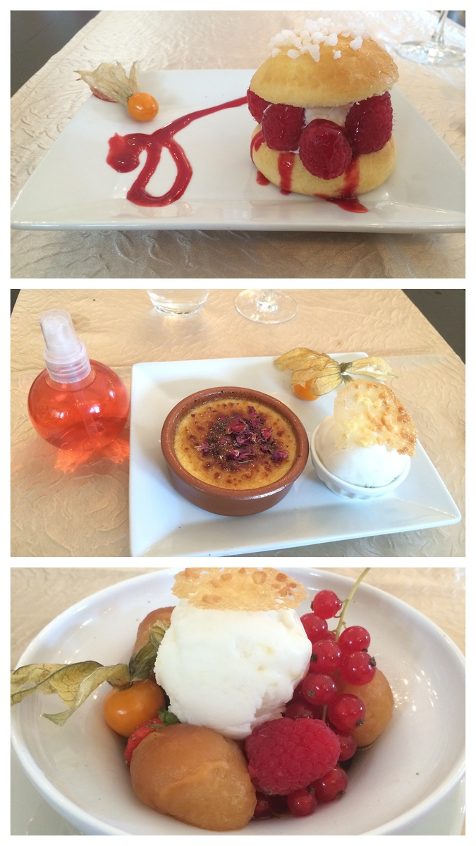 Trio of Delicious Desserts at L'hôtel restaurant La Vallée in France