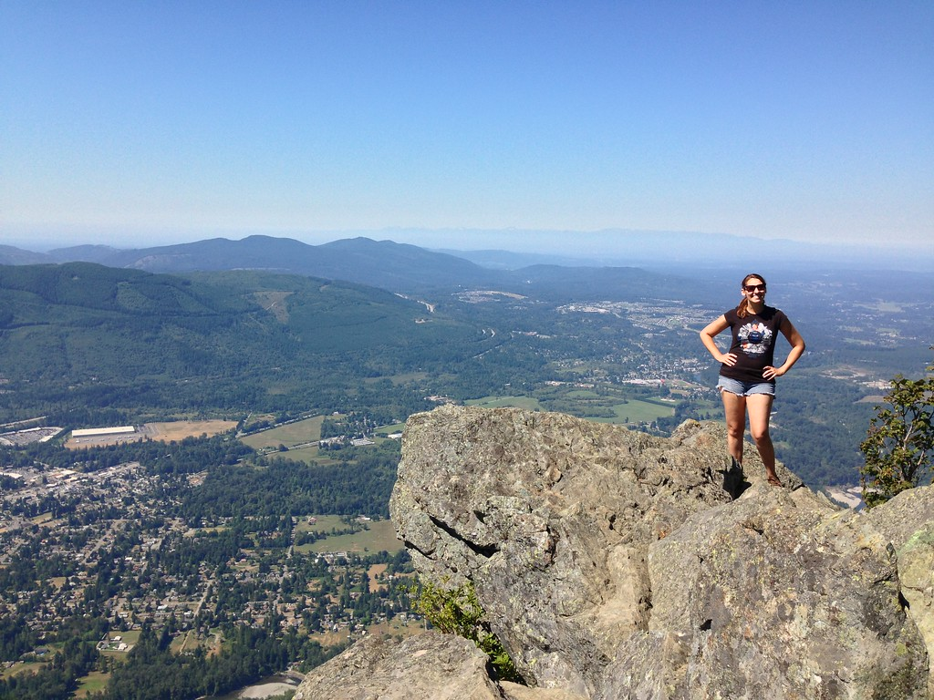 Victory Pose at the Top of Mount Si, Washington