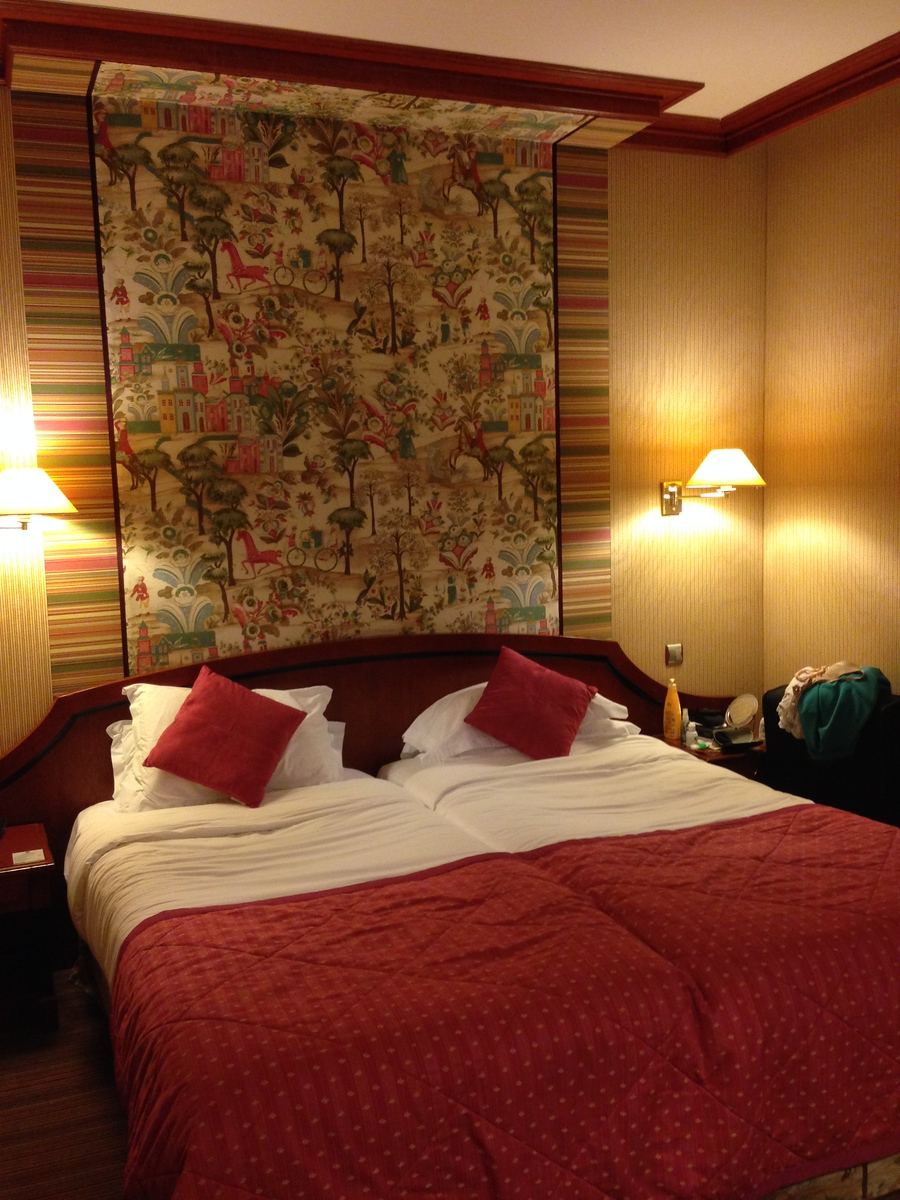 Our Spacious and Beautiful Double Twin Room at the Hotel H'Orset Opera in Paris, France