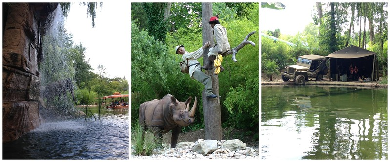 Scenes From the Africa Cruise Ride, a Jungle Cruise Knockoff at Nigloland, France
