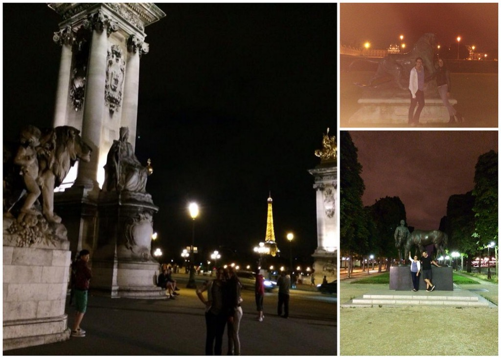 Jen, Jared and I Exploring Paris by Night