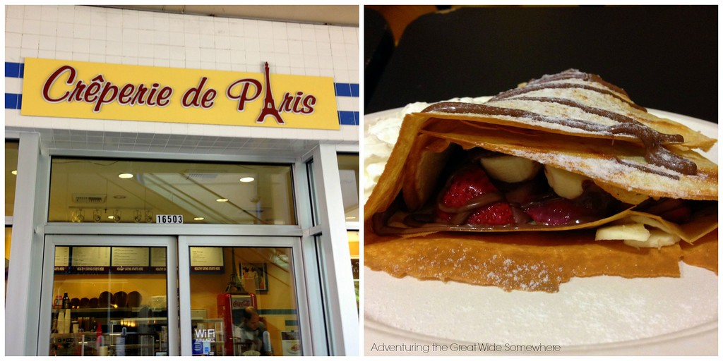 Strawberry Banana Nutella Dessert Crepe at the Creperie de Paris in Redmond
