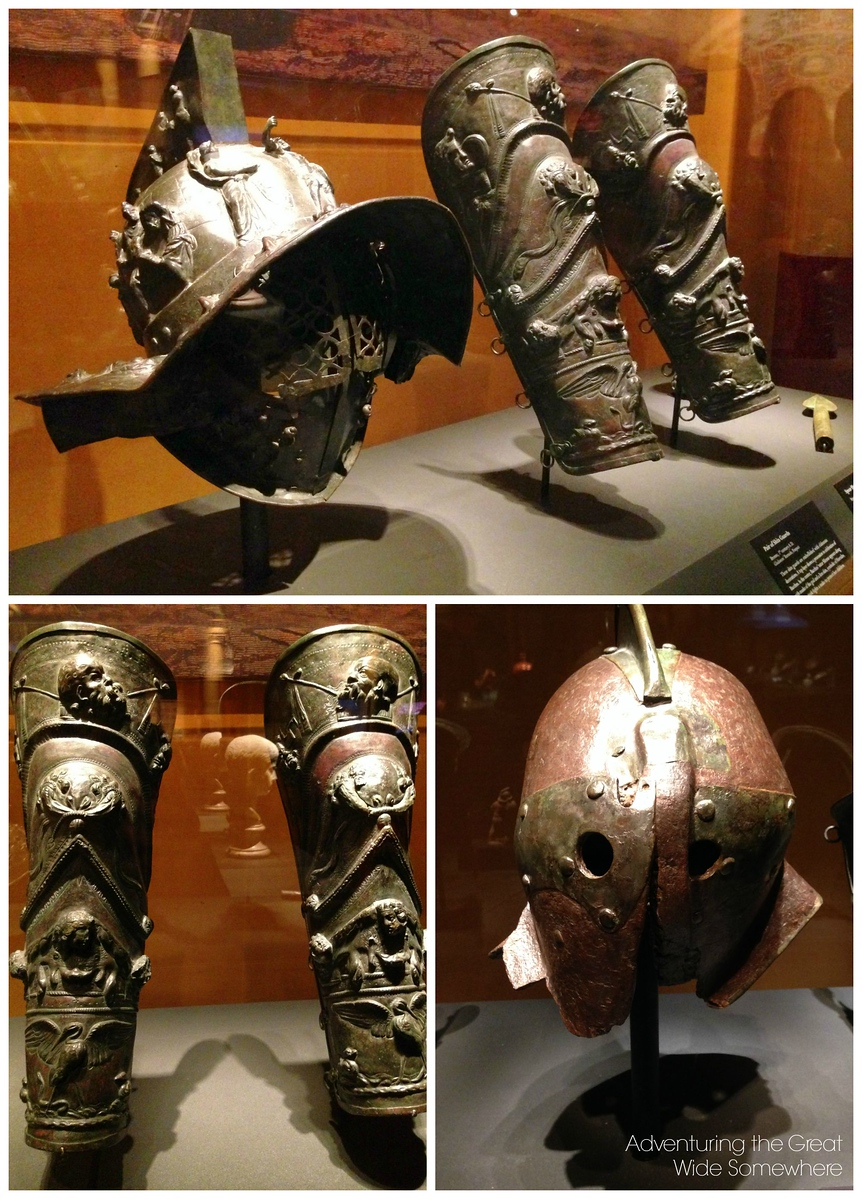 Real Armor Used by Gladiators in Pompeii, Italy, on Display in Seattle