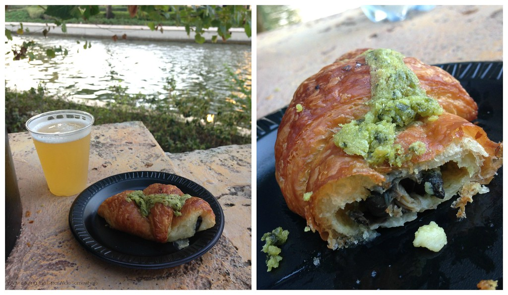 Croissant aux Escargots at the French Pavilion at the 2015 Epcot International Food and Wine Festival