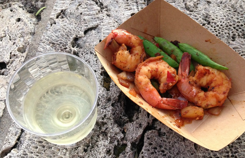 Sweet and Spicy Bush Berry Shrimp and Riesling from Australia at the 2015 Epcot International Food and Wine Festival