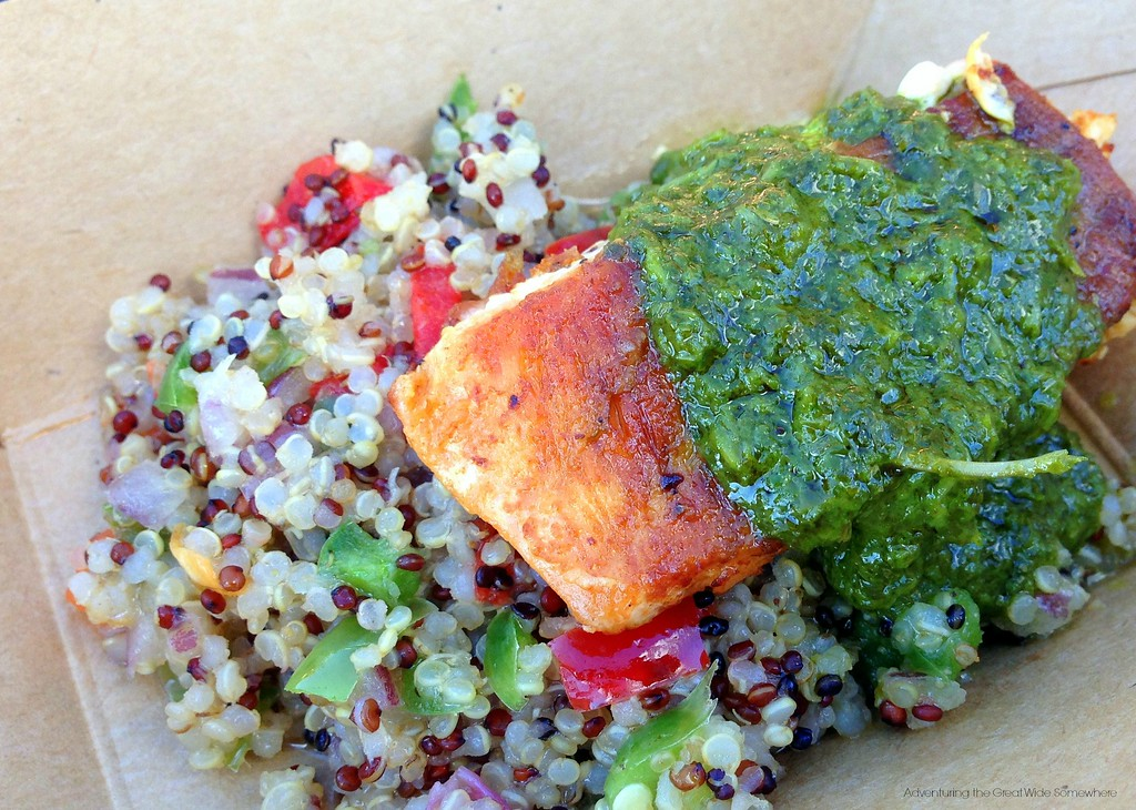 Roasted Verlasso Salmon with Quinoa Salad and Arugula Chimichurri from Patagonia at the 2015 Epcot International Food and Wine Festival