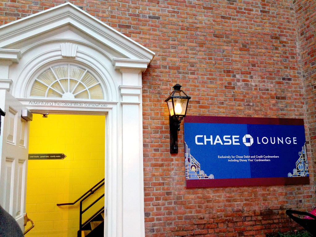 Entrance to the Chase Lounge in the American Adventure at Epcot