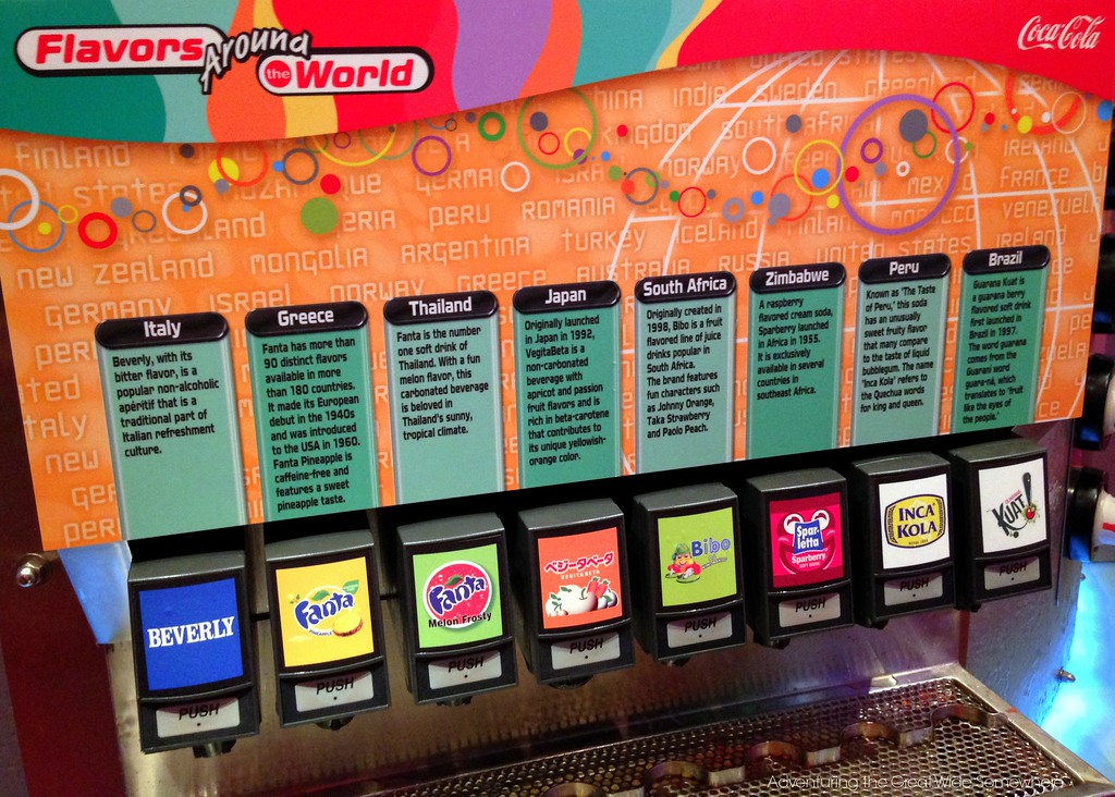 Free International Soda Samples at Epcot's Club Cool, Walt Disney World