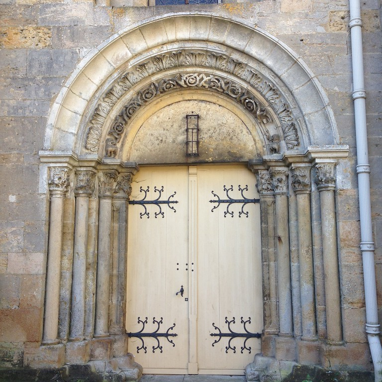 Beautiful Middle Earth Door at the Langres Cathedral in Langres, Cathedral