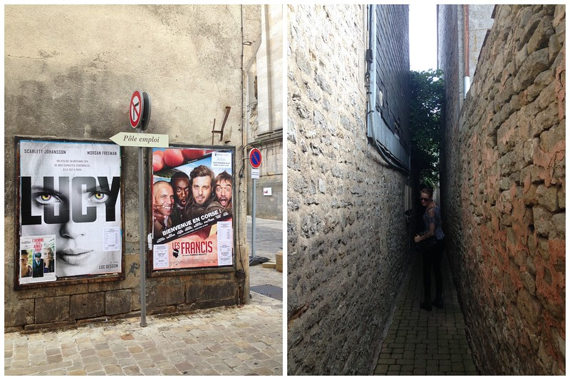The Streets of Langres, France, and a Little Hidden Alleyway