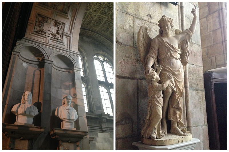 Statues, Busts and Columns Decorate the Langres Cathedral in France