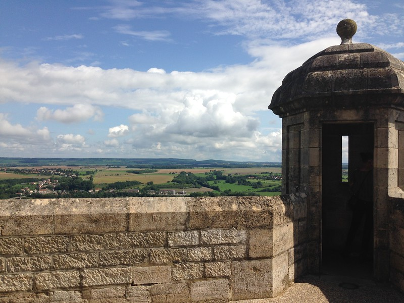 A Watchtower on the Fortified City Walls of Langres, France