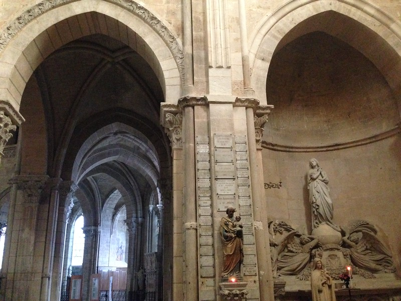 Beautiful Arches Unify the Interior of the Langres Cathedral in Langres, France