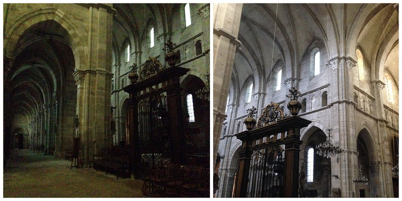 Dimly Lit Interiors of the Langres Cathedral, France