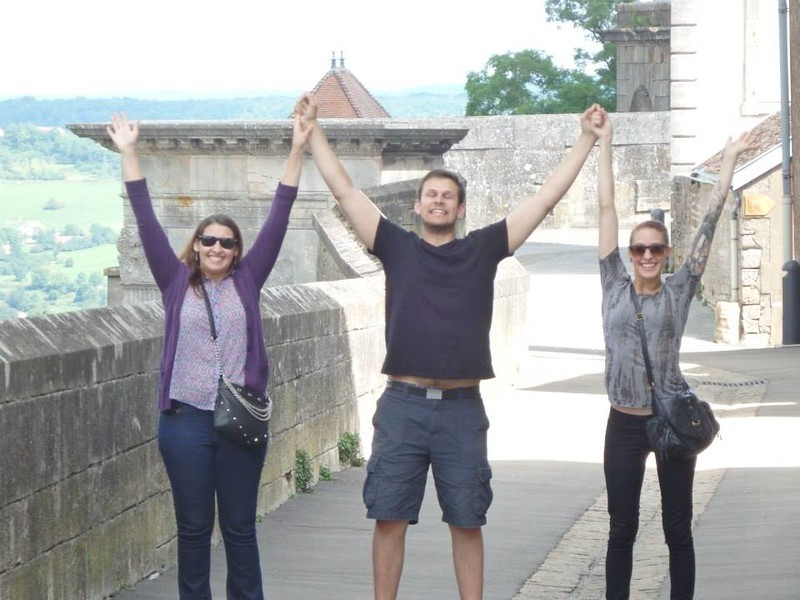 Hands Raised in Victory on the Ramparts of Langres, France